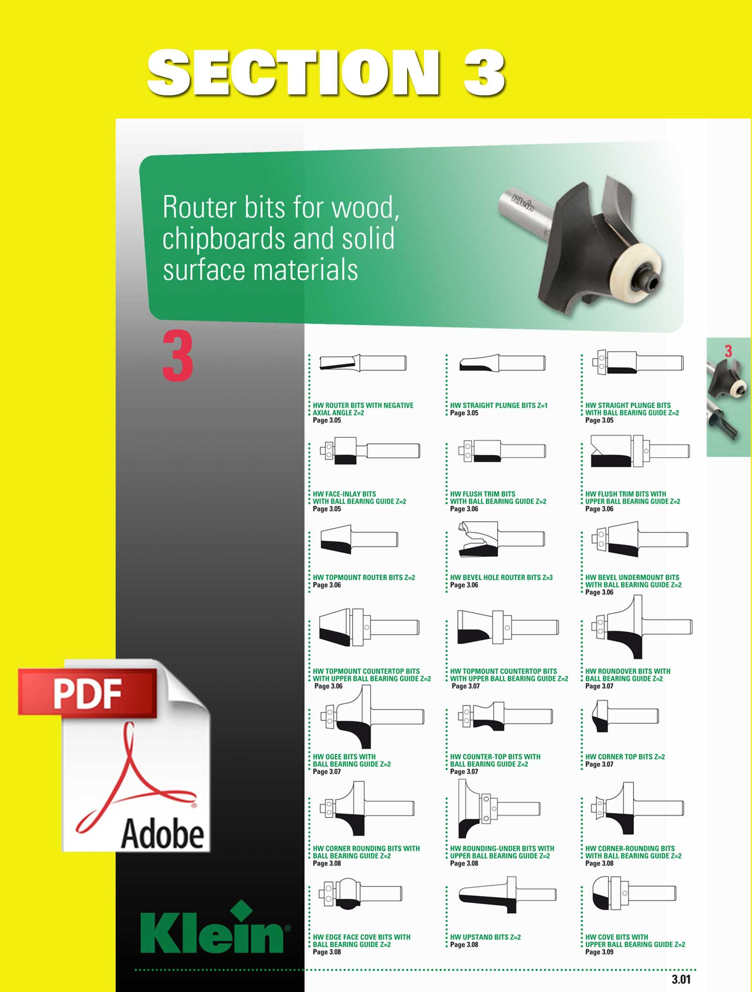 router bits for wood, chipboards, solid surface, bits for elu, bits for scheer, domino joints, bits for festool, versofix