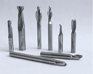 Router bits for aluminium and plastic working